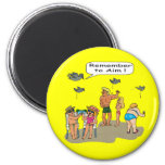 """""""Beach Droppings"""" Magnet"""