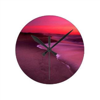 Beach Dunes Half Moon Bay Round Clock