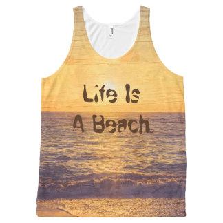 beach,edit text All-Over print tank top