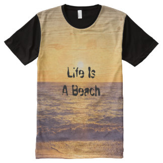 Beach, edit text All-Over print T-Shirt