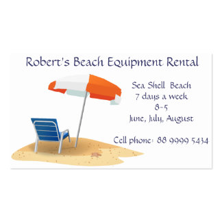 beach Equipment rental business Double-Sided Standard Business Cards (Pack Of 100)