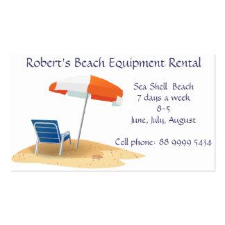 beach Equipment rental business Pack Of Standard Business Cards
