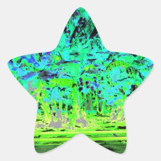 Beach Explosion Star Sticker