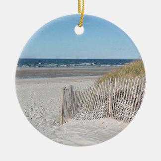 Beach fence christmas ornament