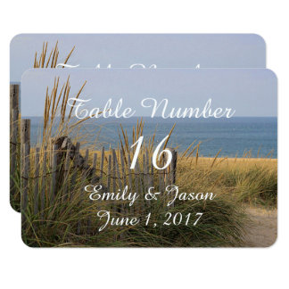 Beach fence in the sand dunes card