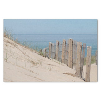 Beach fence in the sand dunes tissue paper