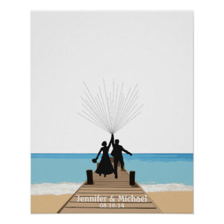 Beach Fingerprint Balloon Guestbook