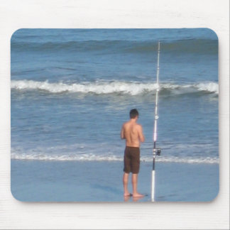beach fishing mouse pad