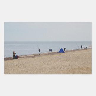 Beach Fishing Rectangle Sticker
