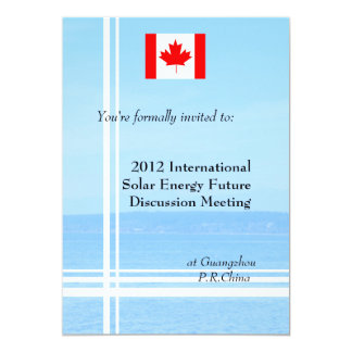 Beach,flag or logo international business 13 cm x 18 cm invitation card