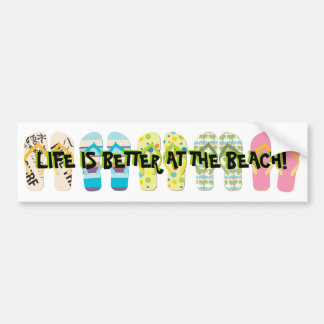 Beach Flip Flops Bumper Sticker