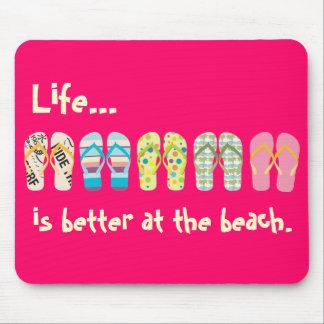 Beach Flip Flops Mousepad