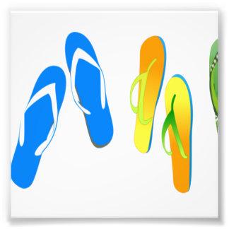Beach Flip Flops Photo Art