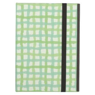 Beach Flora Green iPad Case - Gingham