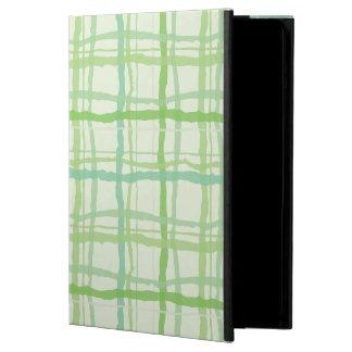 Beach Flora Green iPad Case - Plaid