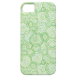 Beach Flora Green Phone Case - Outlines