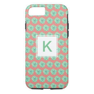 Beach Floral Monogram iPhone 8/7 Case