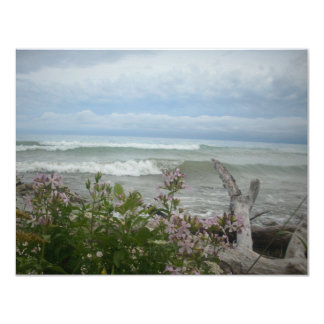 "Beach Flowers 4.25"" X 5.5"" Invitation Card"