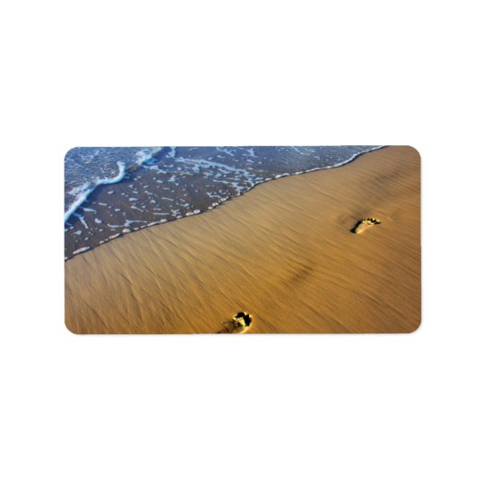 Beach Footsteps Address Label