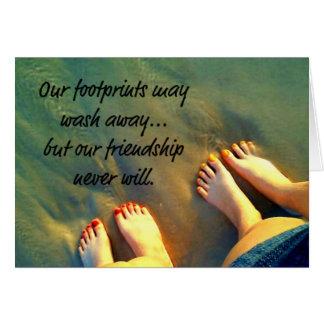 Beach Forever Friends Poem Card