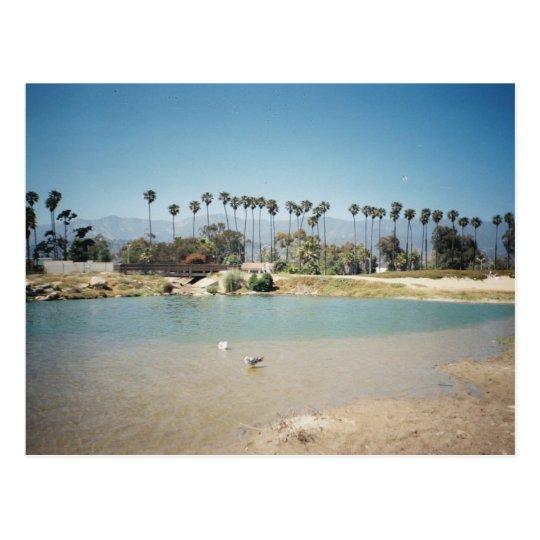 Beach front postcard