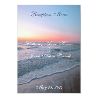 Beach Front View Menu 5x7 13 Cm X 18 Cm Invitation Card