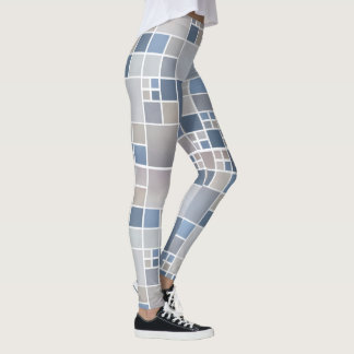 Beach Geometric Watercolor Pattern Legging