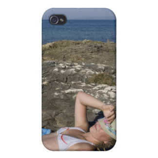 Beach Girl on Rocky Shore iPhone 4 Cover