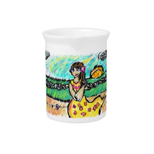 beach girl pitcher