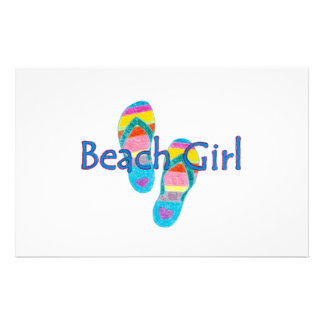 Beach Girl Stationery