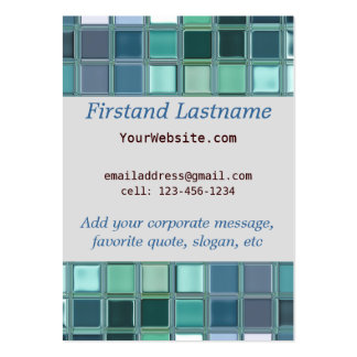 Beach Glass Mosaic Tile Art Large Business Cards (Pack Of 100)