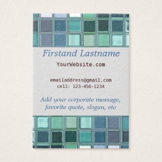 Beach Glass Mosaic Tile Art Business Card