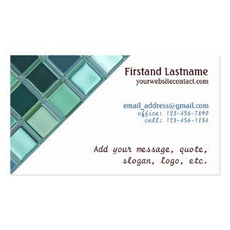 Beach Glass Mosaic Tile Art Pack Of Standard Business Cards