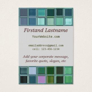 Beach Glass Mosaic Tile Art Business Card