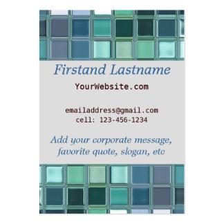 Beach Glass Mosaic Tile Art Pack Of Chubby Business Cards