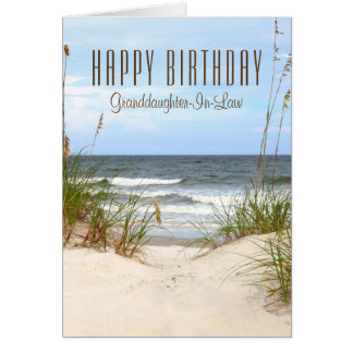 Beach Granddaughter-In-Law Birthday Card