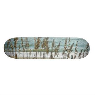 Beach Grass and Ocean Waves Custom Skate Board