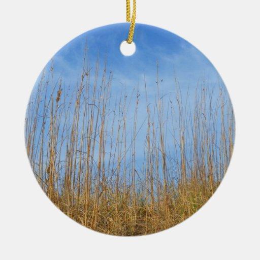 Beach Grass Christmas Ornament