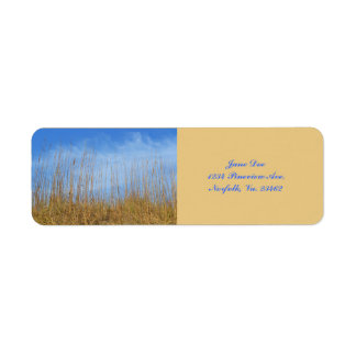Beach Grass Return Address Label