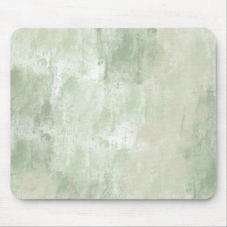 Beach Green Cream Sand abstract Mouse Pad