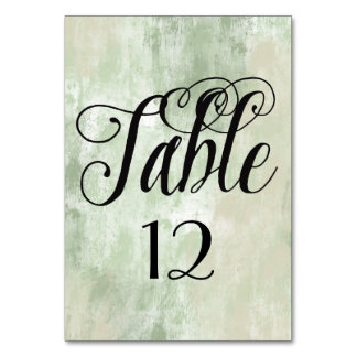 Beach Green Cream Sand abstract table number
