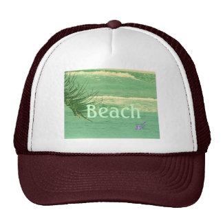 """""""Beach"""" Green Ocean Trucker Hat"""