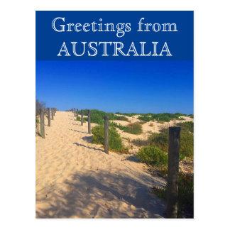 beach greetings australia postcard