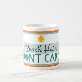 Beach Hair, Don't Care Basic White Mug