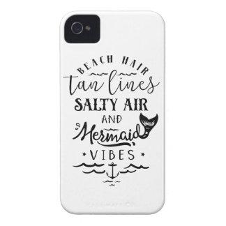 Beach Hair, Tan Lines, Salty Air, & Mermaid Vibes iPhone 4 Case-Mate Cases