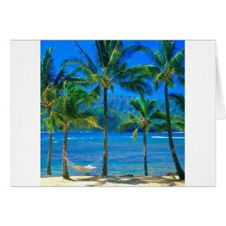 Beach Hammock Kauai Hawaii Card