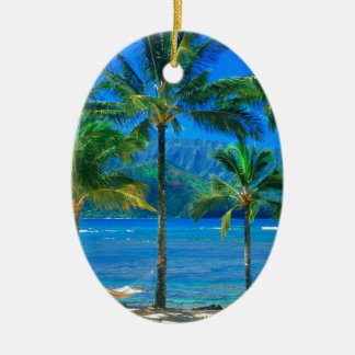 Beach Hammock Kauai Hawaii Christmas Ornament