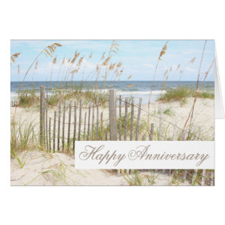 Beach Happy Anniversary Card