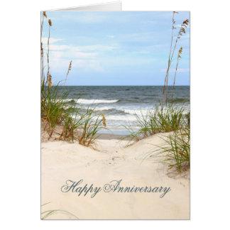 Beach Happy Anniversary Card