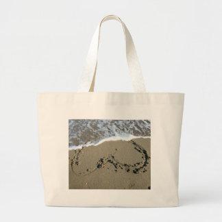 Beach Heart Jumbo Tote Bag